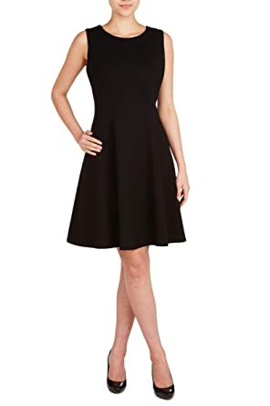8316119e681 Nygard Women's Regular Peter Nygard Luxe Fit & Flare Sleeveless Dress Black