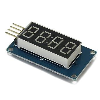 Módulo de pantalla LED Solu 4 Bits tubo Digital pantalla con reloj TM1637 para Arduino/