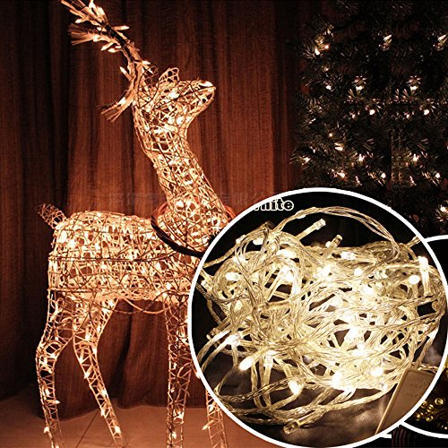 Autolizer 200 LED Warm White Fairy String Lights Lamp for Xmas Tree Holiday Wedding Party Decoration Halloween Showcase Displays Restaurant or Bar and Home Garden - Control up to 8 Modes -