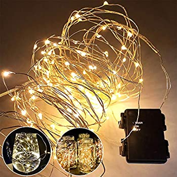 Amazon.com: Timer Fairy Lights (3 Pack) 120 Warm White LED ...