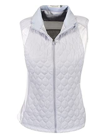 21df9664980 Maggie Lane Golf Ladies Quilted Full-Zip Vest at Amazon Women s Clothing  store