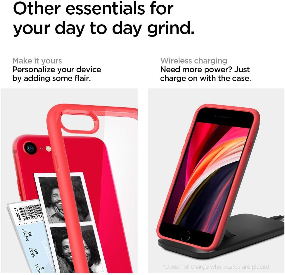 Rose Crystal Designed for iPhone 7//8//SE 2020 Case Clear Hard PC Back Flexible Bumper with Shockproof Air Cushion Case for iPhone 7//8//SE 2020 Spigen Ultra Hybrid