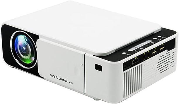 Opinión sobre Inicio HD Mini Proyector Portátil Hogar del LED Niños De Smartphone Proyector 100 ANSI USB/HD/SD/AV/VGA para Cine En Casa,Basic Version