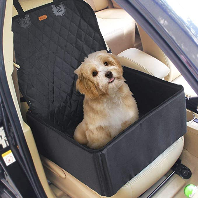2 In 1 Pet Dog Car Waterproof Single Front Seat Mat Booster Seat Pet Carrier Seat Protector Travelling by Kisspet
