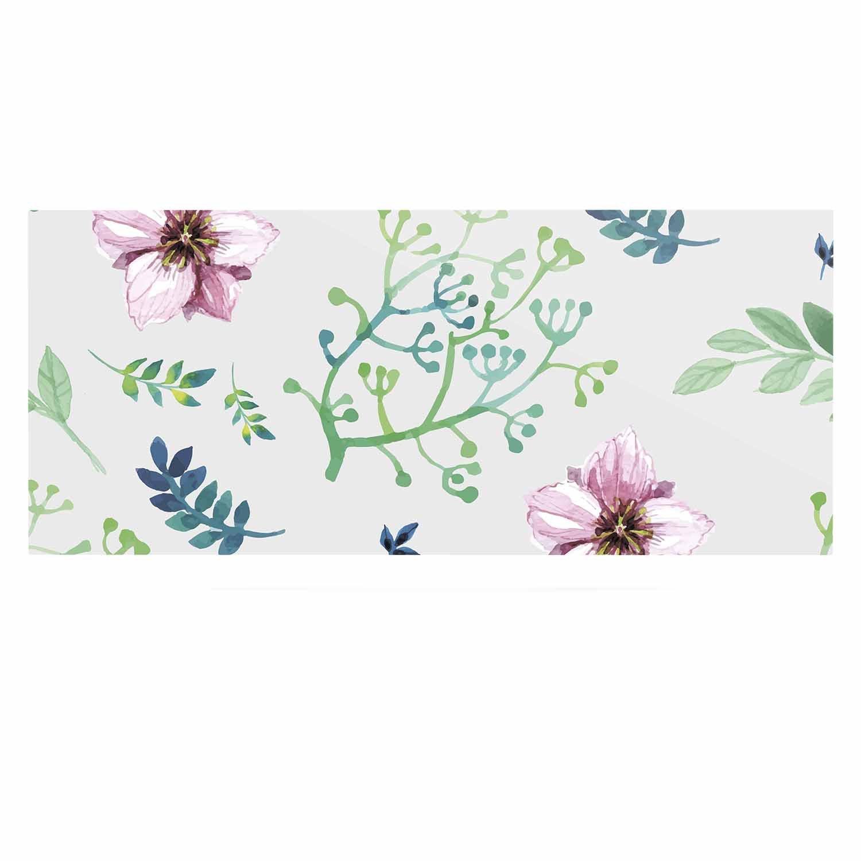 24 x 36 Kess InHouse Louise Summer Flower Pink Green Luxe Rectangle Panel