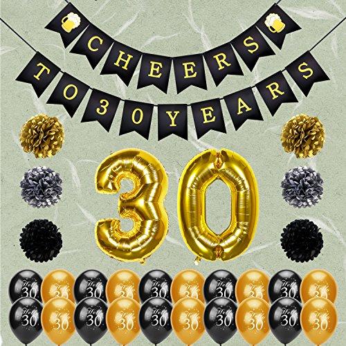 Konsait 30th Birthday Decoration, Cheers to 30 Birthday
