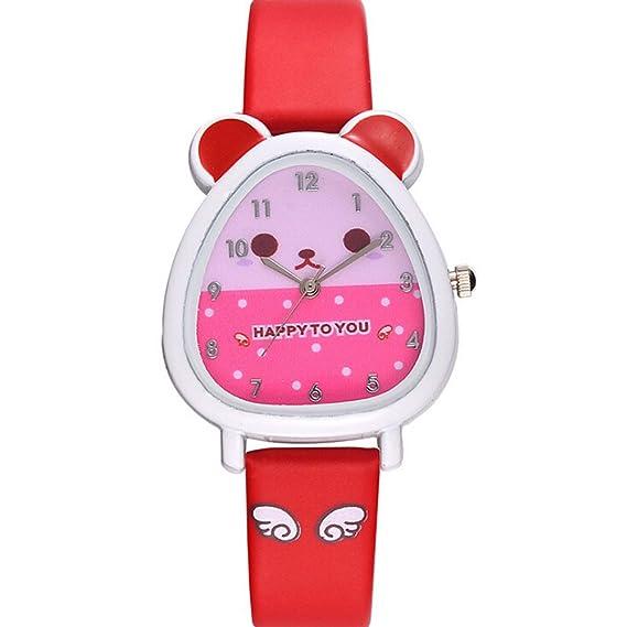 Reloj Frunalte, Reloj de Cuarzo para niños, Bonito diseño de Animales, para niños