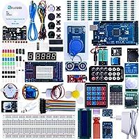 Elegoo Conjunto Mas Completo y Avanzado de Iniciación a Arduino MEGA 2560 con Guías Tutorial en Español y Conjunto de Arduino con Placa Controladora MEGA 2560, LCD1602, Servomotor, Motor paso a Paso, Arduino Mega Kit Starter Kit