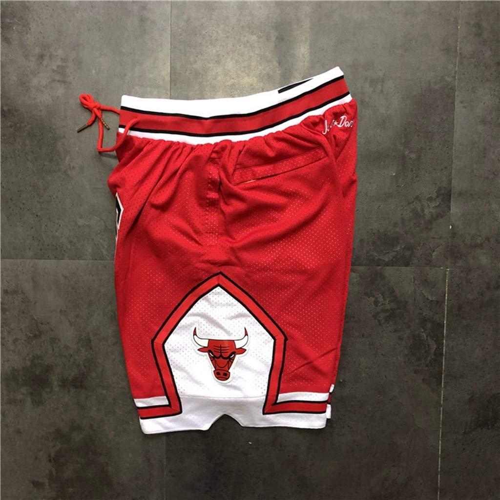 HWHS316 Chicago Bulls Basketball Uniformen Sport Shorts Wettbewerb Team Uniform Training Ball Anzug Bequeme Freizeitshorts Leicht zu trocknen,Schwarz,S170~175CM//50~70kg