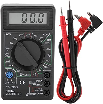Dt830d Mini Digital Lcd Display Multimeter Summer Voltmeter Amperemeter Ohmmeter Ac Dc Meter Tester Mit Lcd Anzeige Und Hintergrundlicht Baumarkt