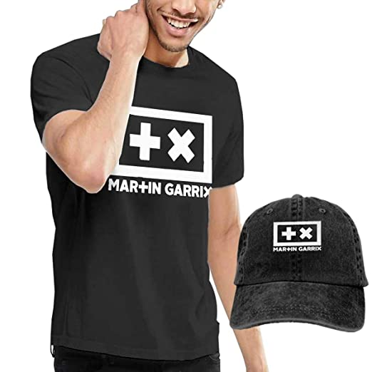 4cd5ebe77ba GabrielR Men s Martin Garrix T-Shirts and Washed Denim Baseball Dad Hats  Black S