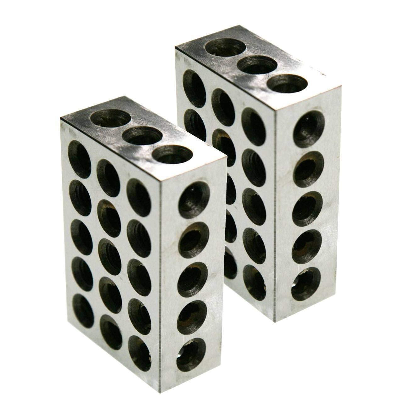 FidgetFidget Precision Steel 1 2 3 Blocks New BL 1-2-3 Pair of 1'' X 2'' X 3''