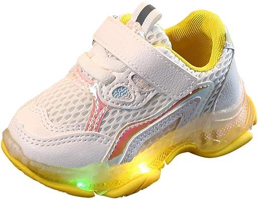 Zapatillas para Niñas con Luces Deportivas Verano Otoño 2019 PAOLIAN Calzado de Deportes Niños Running LED Vestir Zapatos Bebes Niñas Unisex Primeros Pasos Bautizo Suela Dura 22-29 EU: Amazon.es: Zapatos y complementos