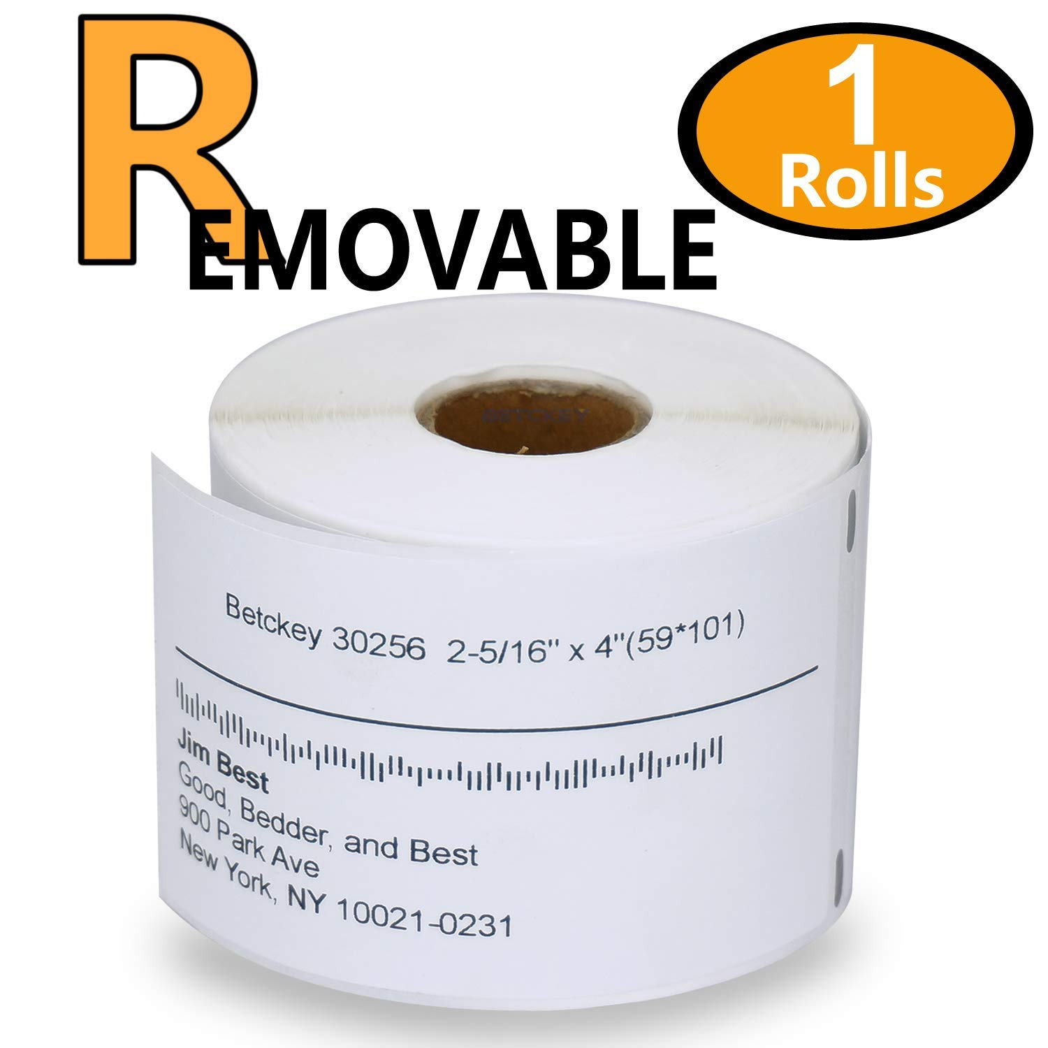 1 Rolls DYMO 30256 Removable Compatible 2-5/16 x 4(59mm x 101mm) Large Shipping Labels, BPA Free BETCKEY FBA_R30256-1