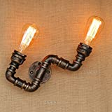 CGJDZMD Wall Sconce LOFT American Retro Industrial Water Pipe Iron Craft Wall Lamp Nostalgic Bar Club Large DIY Assembly Wall Light E27 Edison Lighting,(Not Including Light Bulbs)