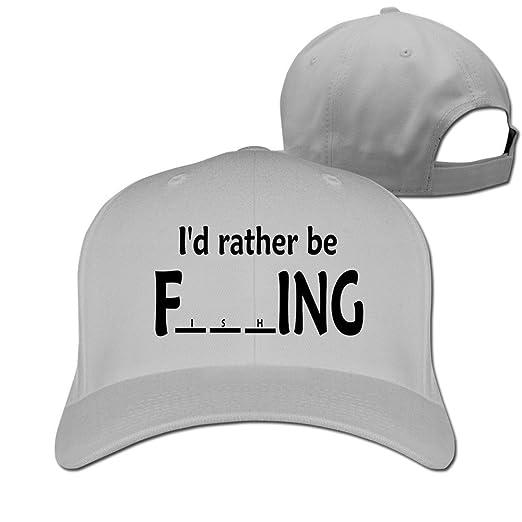 d8348d0d04b GJdd diy I D Rather Be Fishing Hat Baseball Caps at Amazon Men s ...