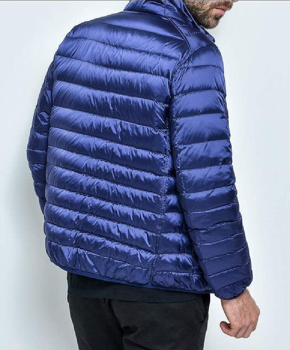 Alion Mens Reversible Light Weight Puffer Down Jacket Coats Outwear