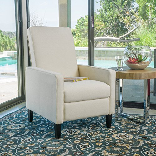 Christopher Knight Home 298399 Durston Slim Recliner Chair, Beige