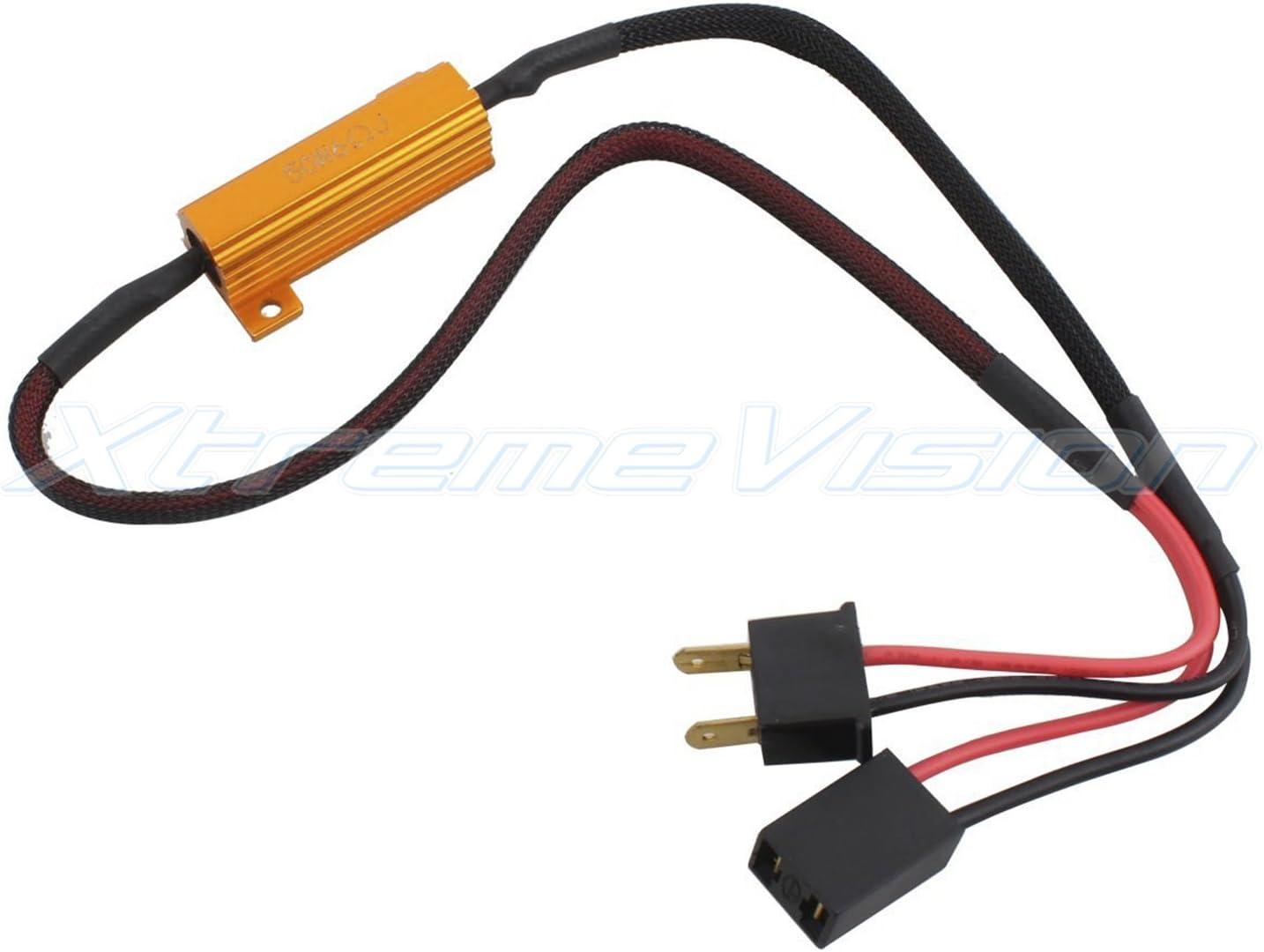 1 Pair XtremeVision LED Anti Flicker Resistor Decoder Plug and Play Error Free H3 H1