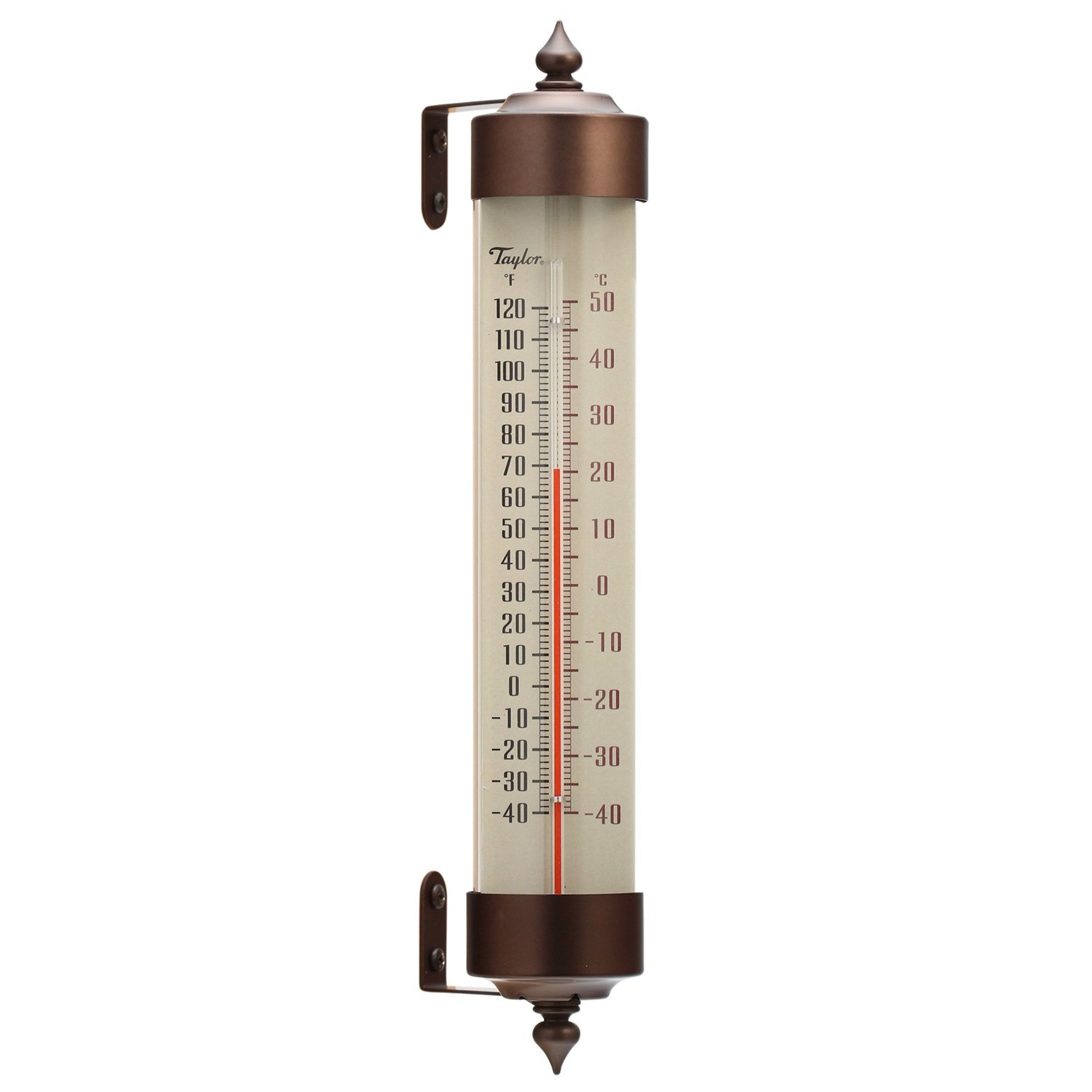 Taylor Heritage Spirit-Filled Metal Thermometer, 12.25-inch