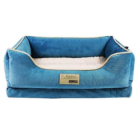 Cama para Perros, Cama ortopédica Azul para Perros: sofá ...