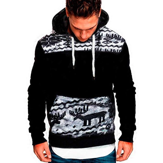 Amazon.com: Men Casual Sweatshirt,Boys Long Sleeve Autumn Winter Hoodies Top Blouse Tracksuits (3XL, Red 3): Electronics