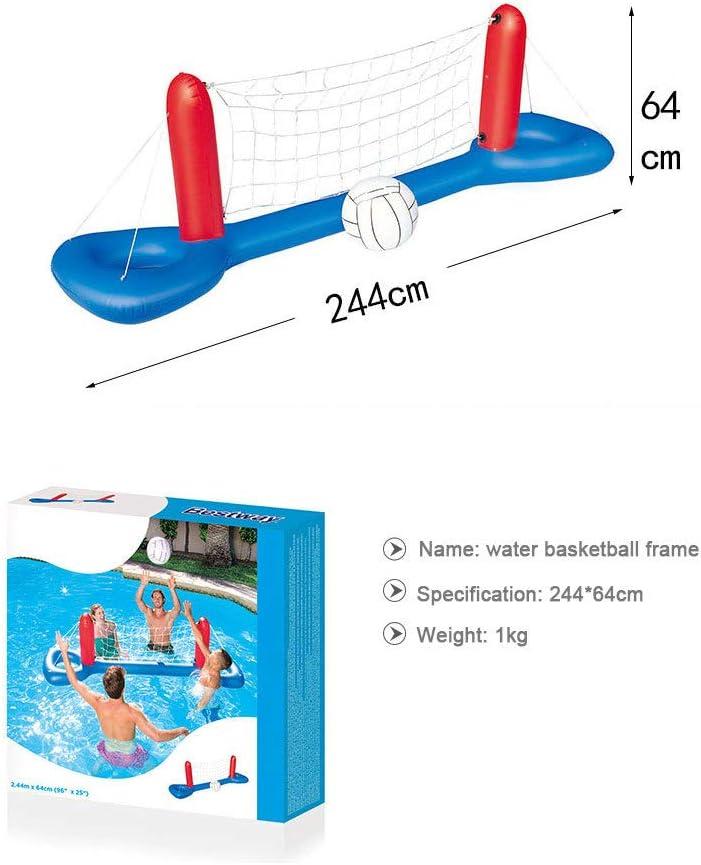 MASII Beach Toys Adult Children Parent-Child Pool Play Water Inflatable Volleyball Basketball Rack Handball Door Water Sports Equipment,B