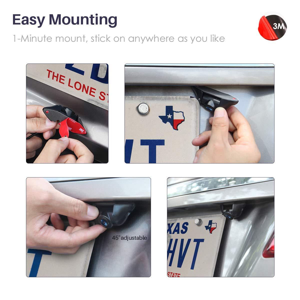 Airysee AS-205B Mini estilo repoker 600TVL Full HD videocámara CCD vulnerabilidades para coche reproductor de DVD Monitor del coche: Amazon.es: Electrónica