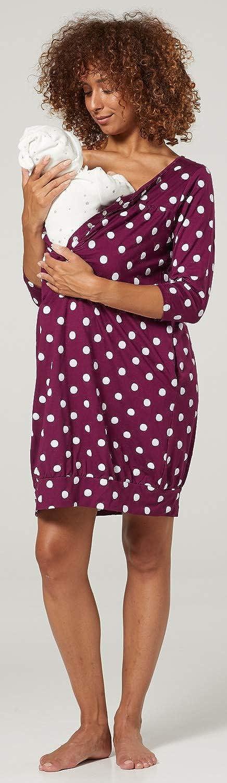 HAPPY MAMA Womens Maternity Nursing Labour Hospital Gown Print Nightshirt 1078