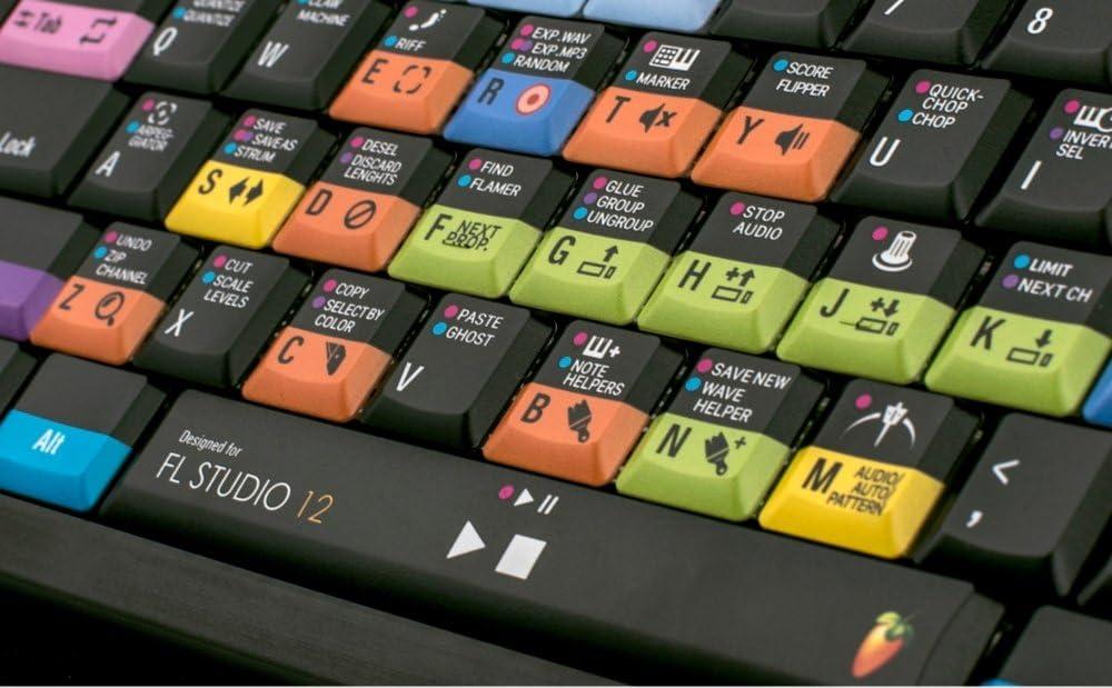 LOGICKEYBOARD Astra PC Teclado retroiluminado - Image Line FL Studio