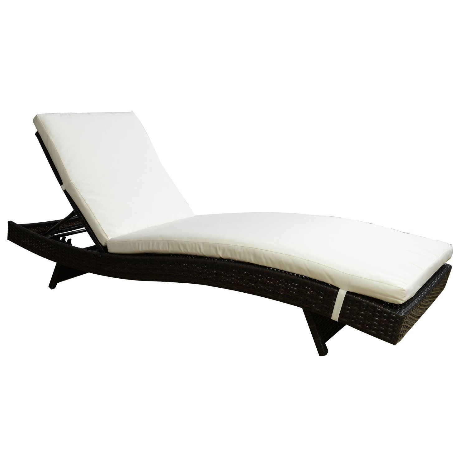 Amazon.com: Tangkula Adjustable Pool Chaise Lounge Chair Outdoor ...