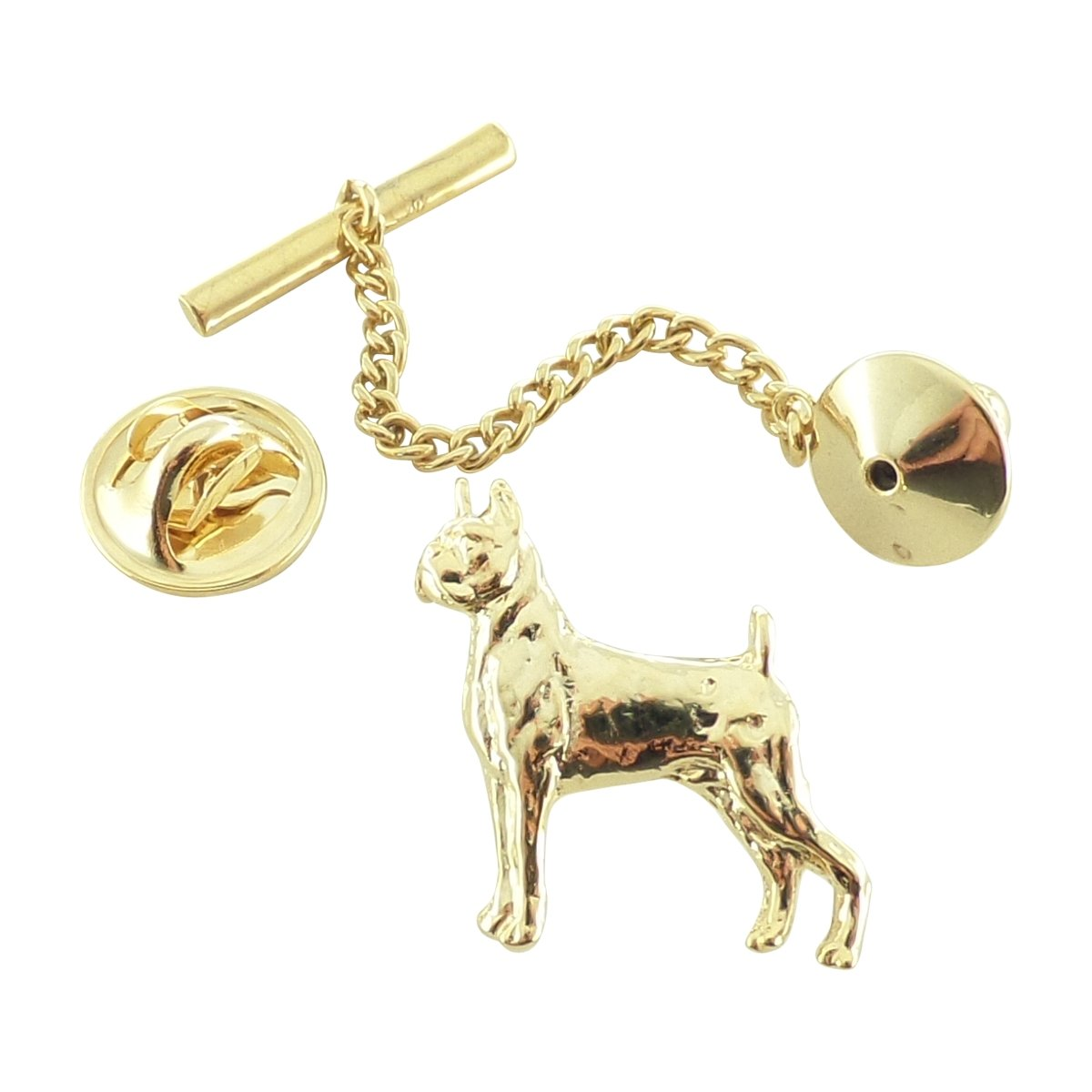 Creative Pewter Designs Pewter Boxer Tie Tack, Gold Plated, DG336TT