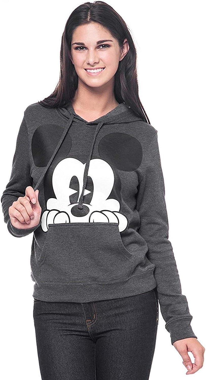 Disney Mickey /& Minnie Womens Fleece Pullover Sz S or M