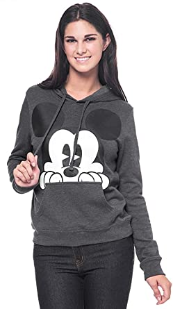 f33e1a317877 Image is loading Hooded Plain Fushia Hot Pink Sweatshirt Men Women Source ·  Amazon com Disney Mickey Mouse Womens Hoodie Peeking Print Pullover