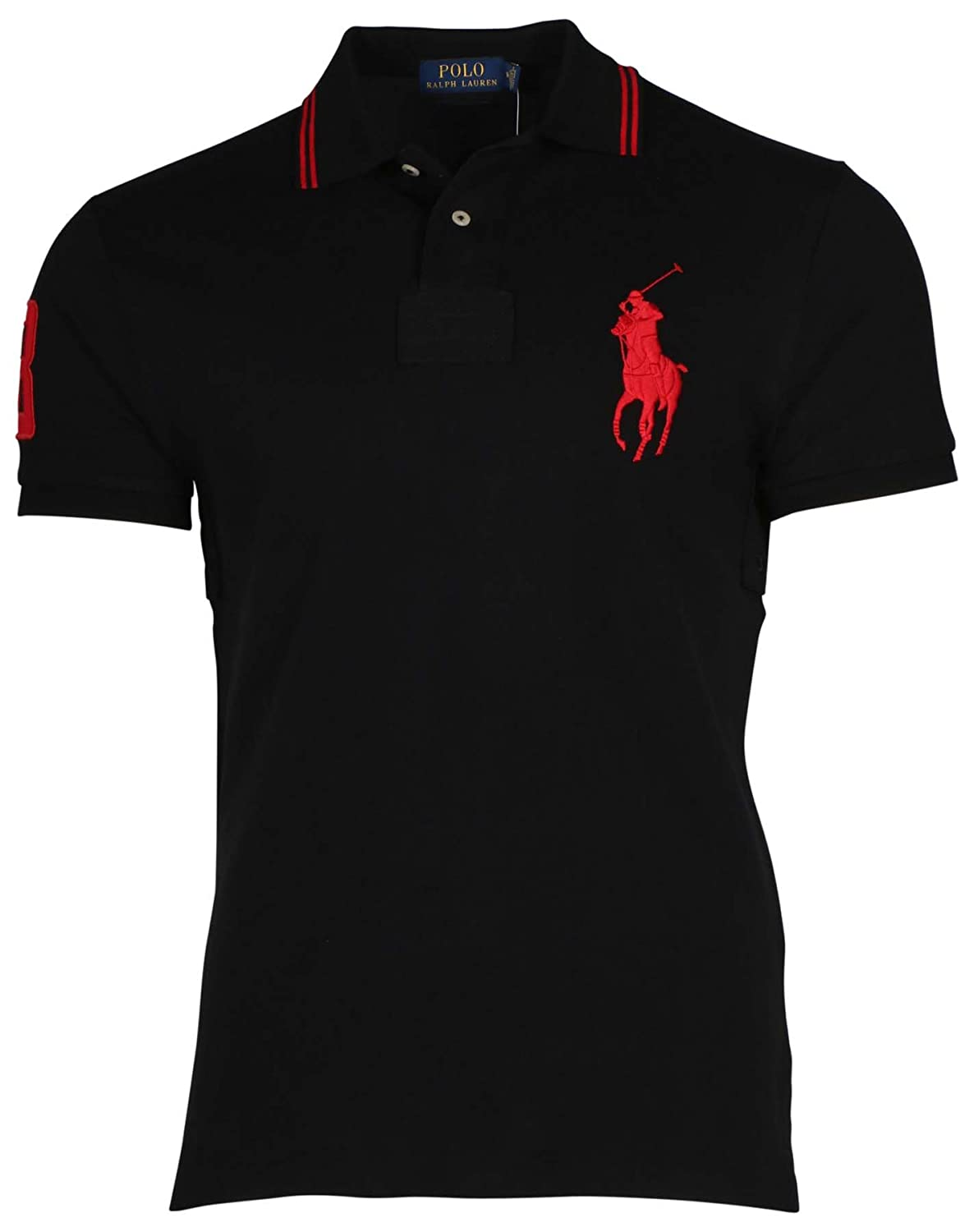 Polo Ralph Lauren Mens Custom Fit Big Pony Logo Polo Shirt at Amazon Mens Clothing store: