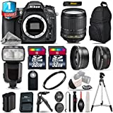 Holiday Saving Bundle for D7100 DSLR Camera + 18-105mm VR Lens + Flash with LCD Display + Backpack + 2 Of 32GB Card + 1yr Extended Warranty + 0.43X Wide Angle Lens - International Version