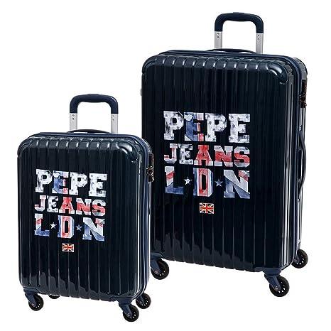Pepe Jeans Set de Maletas Medianas, 72 Lt, Color Azul ...