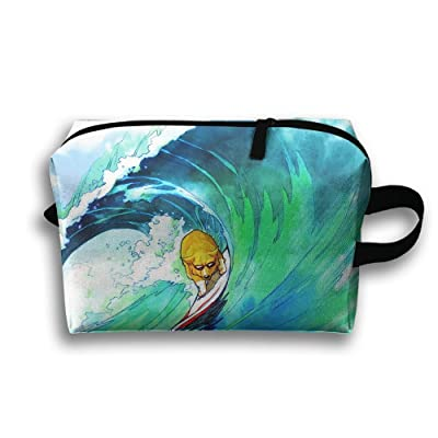 Travel Bag Surfing Cool Cosmetic Bags Brush Pouch Portable Makeup Bag Zipper Wallet Hangbag Pen Organizer Carry Case Wristlet Holder