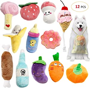 Giveaway: SITENG Squeaky Plush Dog Toy Pack for Puppy