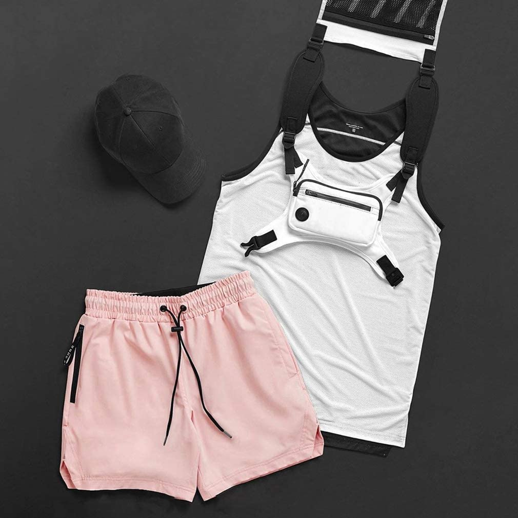 BOOMLEMON Mens Gym Athletic Shorts Waterproof Breathable Quick Dry Running Short Pants