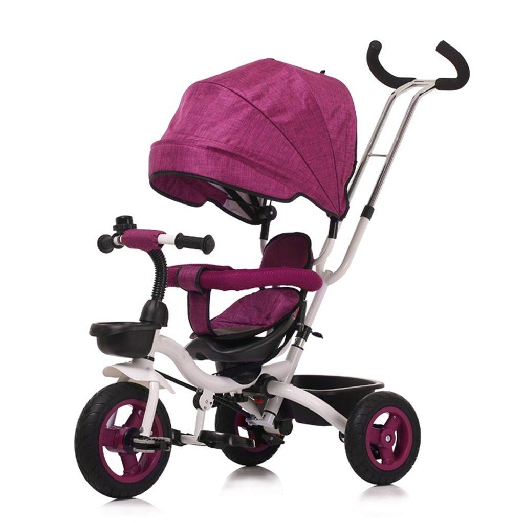 三輪車の赤ちゃんキャリッジバイク子供のおもちゃの車Foldableバイラテラルステアリング3チタン車輪保護自転車、(男の子/女の子、6ヶ月-5歳) (色 : パープル ぱ゜ぷる) B07DVCKG6M パープル ぱ゜ぷる パープル ぱ゜ぷる