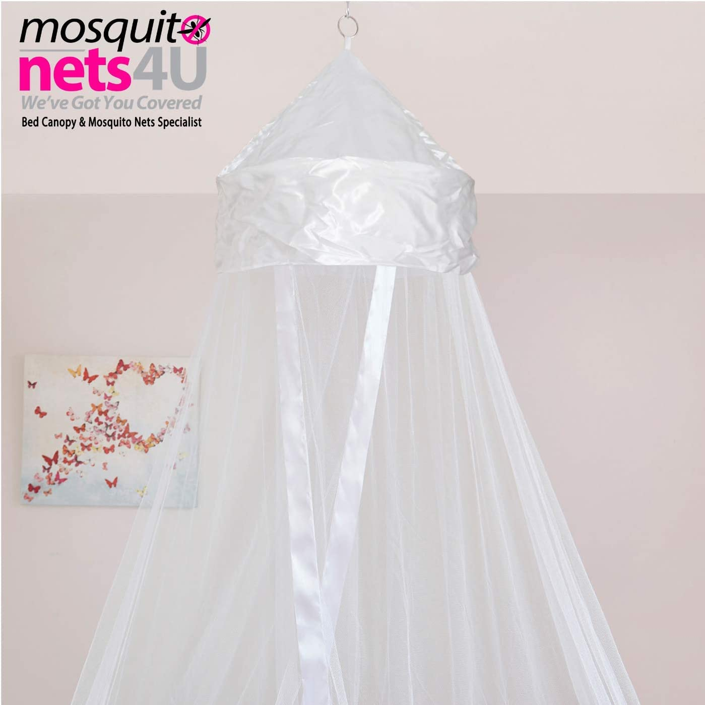 Mosquito Nets 4 U Baby-white001 Baby Canopy Insect Protection White