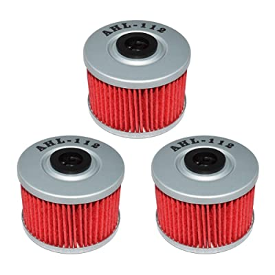 AHL 112 Oil Filter for Honda CRF250L CRF250 L 250 2013-2015 (Pack of 3): Automotive