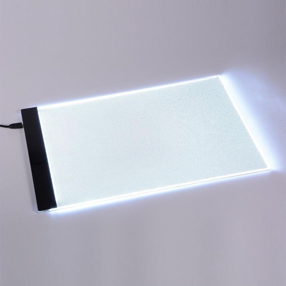XCSOURCE Table Lumineuse Dessin A4 LED Planche /à Dessin Bo/îte de Stencil Lumi/ère Dessin Tatto Tableau A4 Art Artiste Ultra-Mince Affichage LED AH210