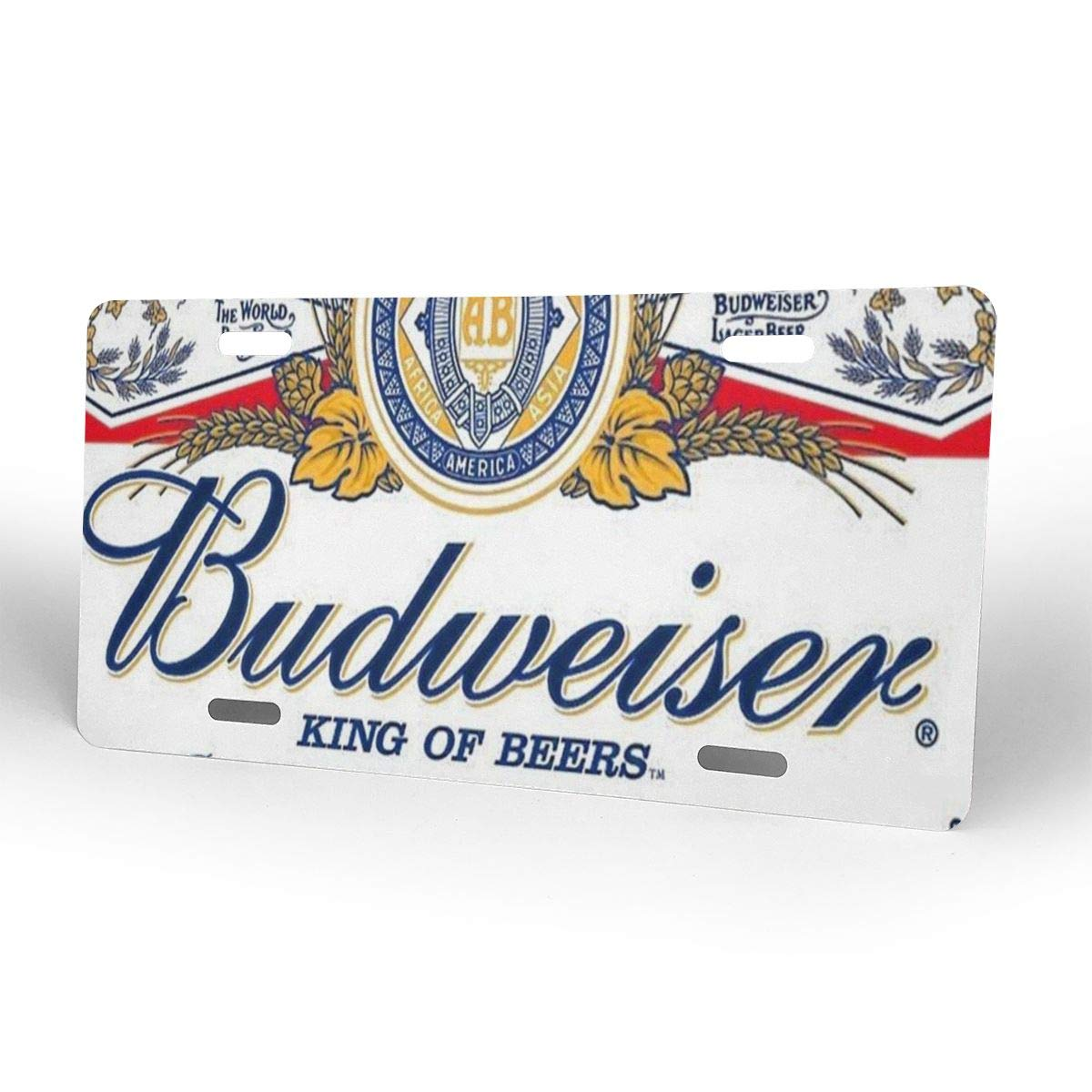 Budweiser Beer Personalized Custom Novelty Sign Tag Aluminum License Plate 6 X 12-1PCS