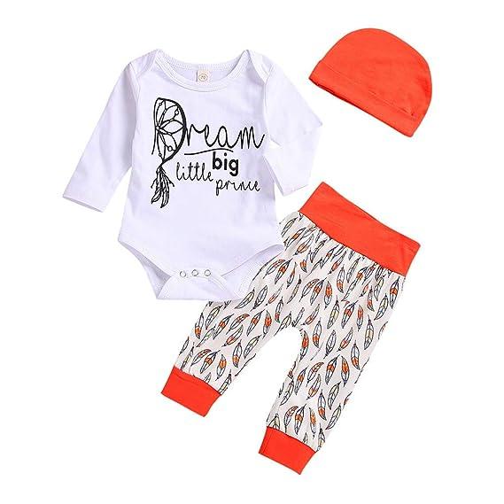 Conjuntos Bebe Niña, Zolimx Recién Nacido Bebé Niño Rayado Camiseta Tops Dibujos Animados Pantalones Ropa Conjuntos: Amazon.es: Ropa y accesorios