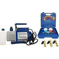 Vakuumpumpe Unterdruckpumpe 70L inkl. Monteurhilfe R410a + Kugelventile auch für R32 geeignet, der Druckbereich ist mit R410 gleich.