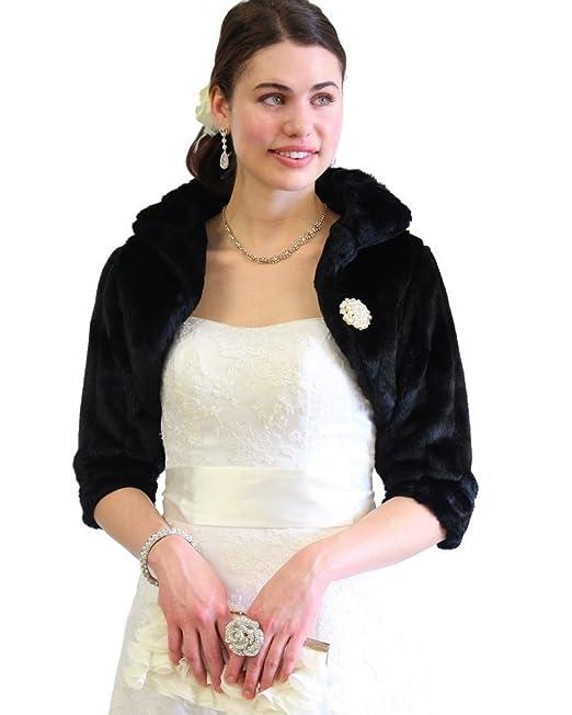 Amazon.com: Faux Fur Chaquetas, L, Negro: Clothing