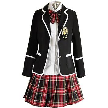 URSRUR Uniforme Escolar japonés de niñas Chicas Traje de Marinero de Manga  Larga Traje de Cosplay 72cf96a9a83