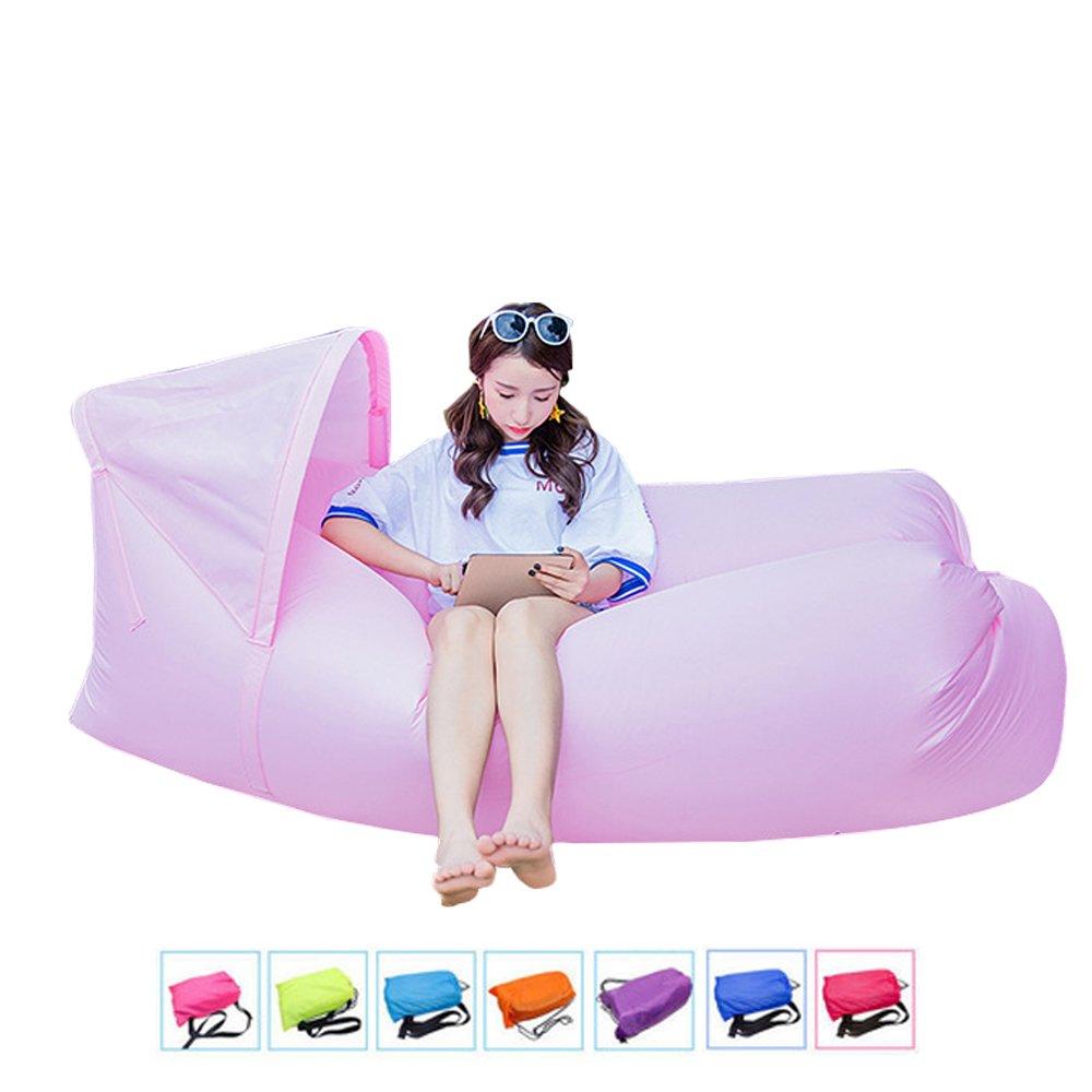 fundoris® inflable Camping playa sofá sofá dormir Lazy silla bolsa Hangout aire dormir cama tumbona puf de aire portátil silla Air colchones cama puf al ...
